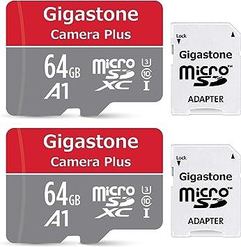 Gigastone Primaria Tarjeta de Memoria Micro SDXC de 64GB con Adaptador SD, (Clase 10, U1,2 Paquetes). Velocidad de Lectura/Escritura Rendimiento hasta 90/25 MB/s.Compatible con Móvil etc.: Amazon.es: Electrónica