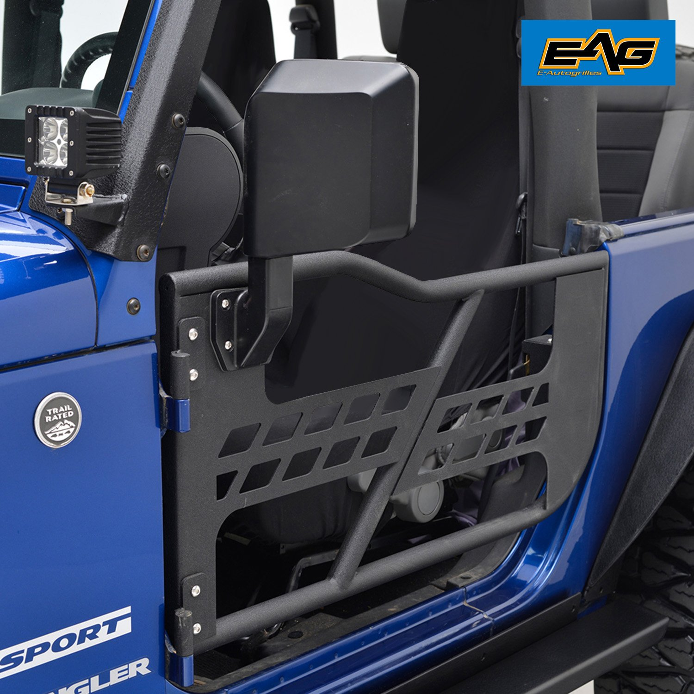 EAG Safari Tubular Doors with Side Mirrors for 07-18 Jeep Wrangler JK (2 Door Only)