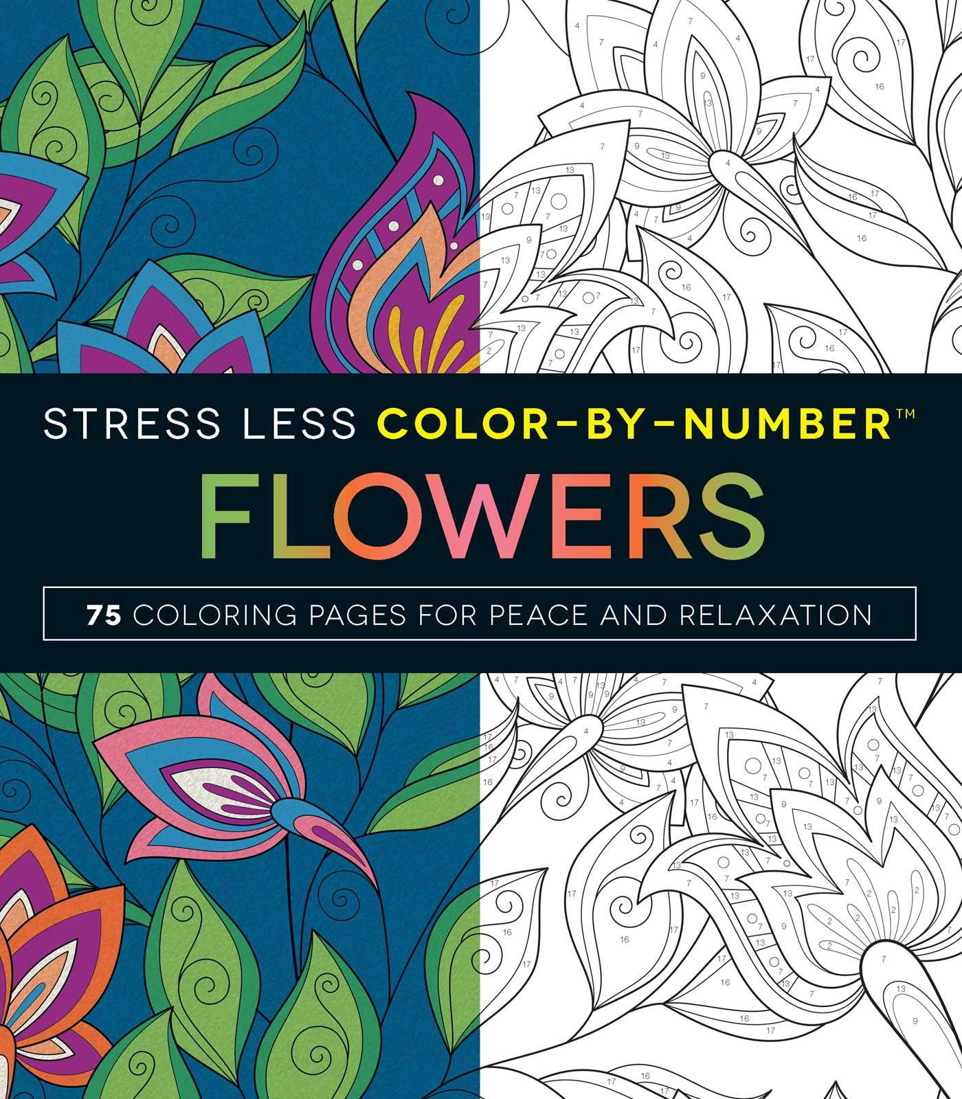 Download Stress Less Color-By-Number Flowers: 75 Coloring Pages for Peace and Relaxation ebook