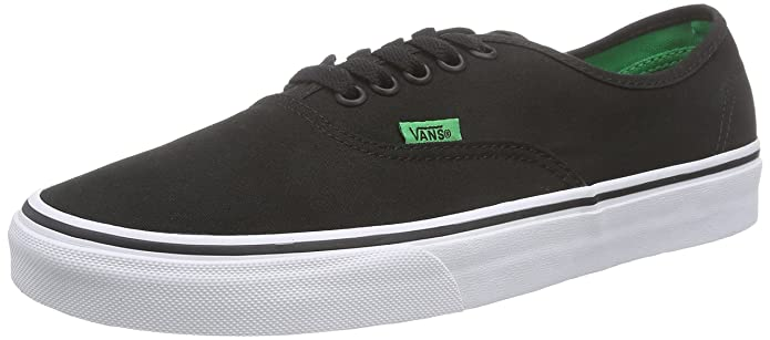 Vans Authentic Kinder/Erwachsene Unisex Sneakers Schwarz (Sport Pop/Black/Kelly Green)