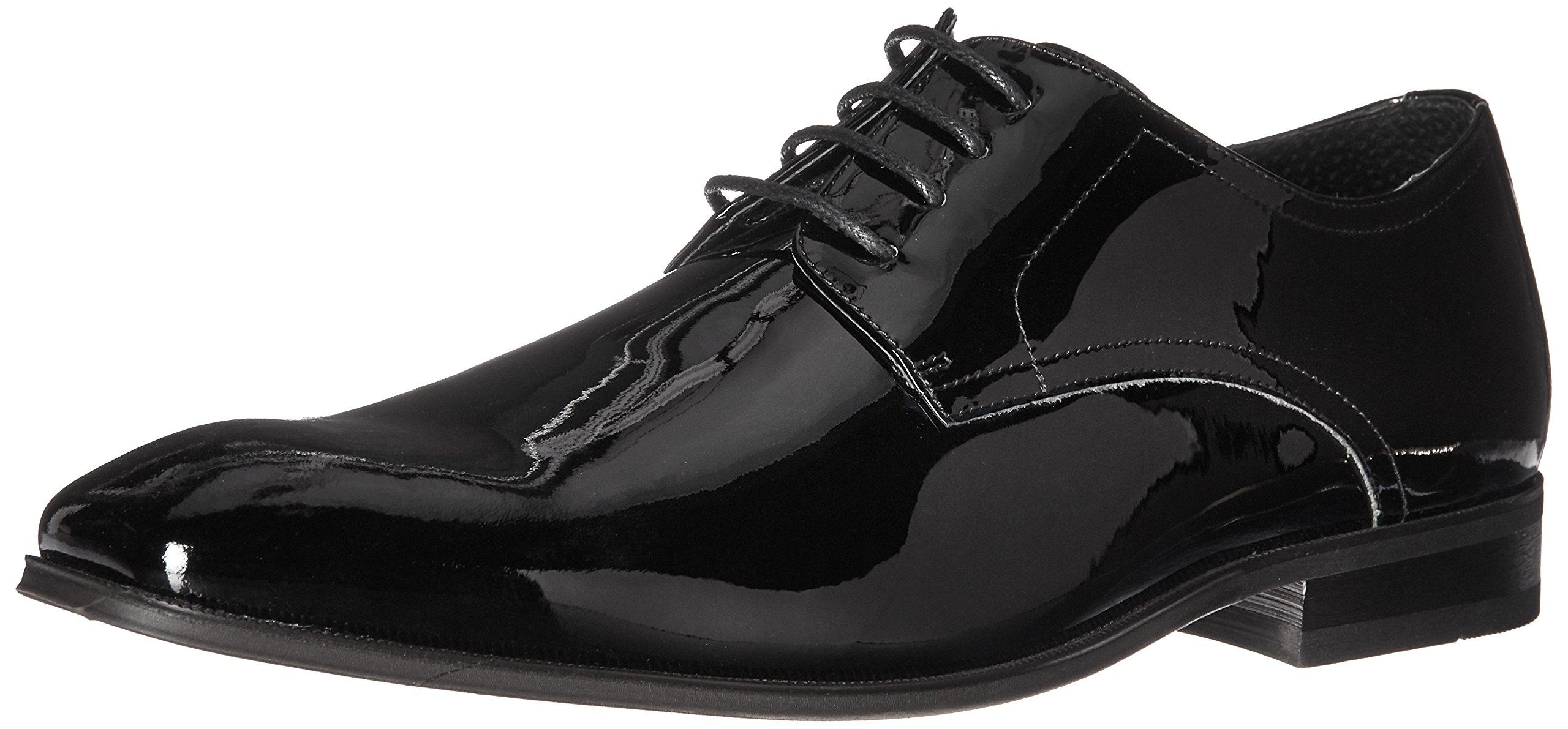 Florsheim Men's Tux Plain Toe Tuxedo Formal Oxford, Black Patent, 10 3E US