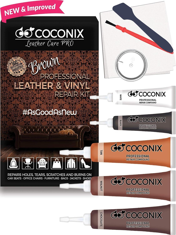 Coconix Kit Con 5 Colores Para Reparacion De Vinilo Y Cuero