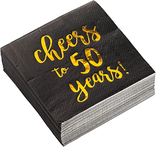 Amazon.com: Servilletas de cóctel, paquete de 50 servilletas ...