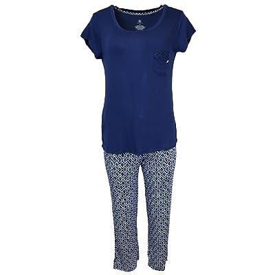 ADRIENNE VITTADINI Women's Ikat Loungewear Top and Pants Set, Lightweight at Amazon Women's Clothing store
