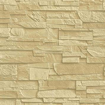 Vliestapete steinoptik beige - Tapete sandfarben ...