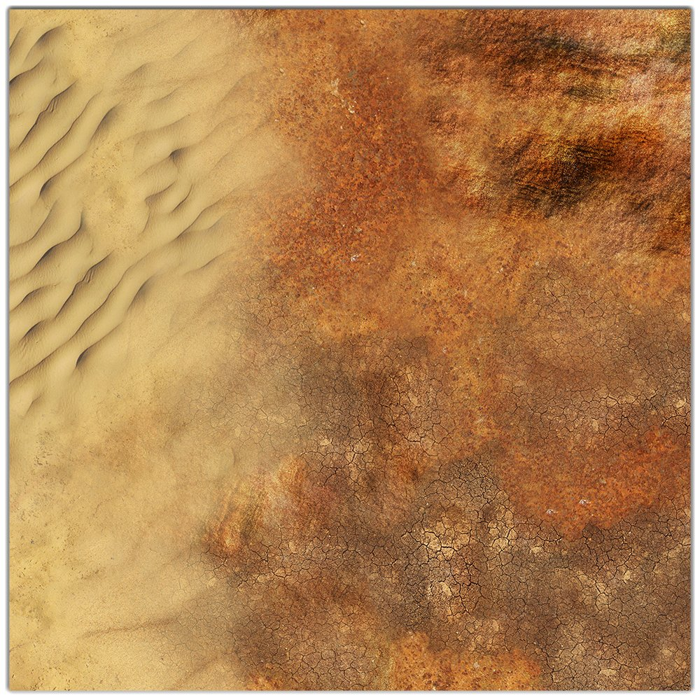 Dune Wargaming Play Mat - 36x36 Inch Table Top Roleplaying and Miniature Battle Game Mat Great for Warhammer 40k Star Wars Minis Warmachine Plus Other Games Polyester with Anti-Slip Rubber Backing