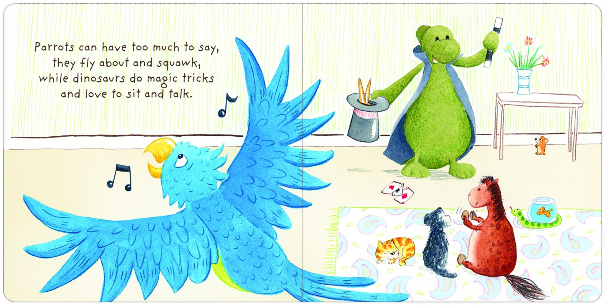 Jellycat The Best Pet Board Book and Bashful Dino, Medium - 12 inches by Jellycat (Image #2)
