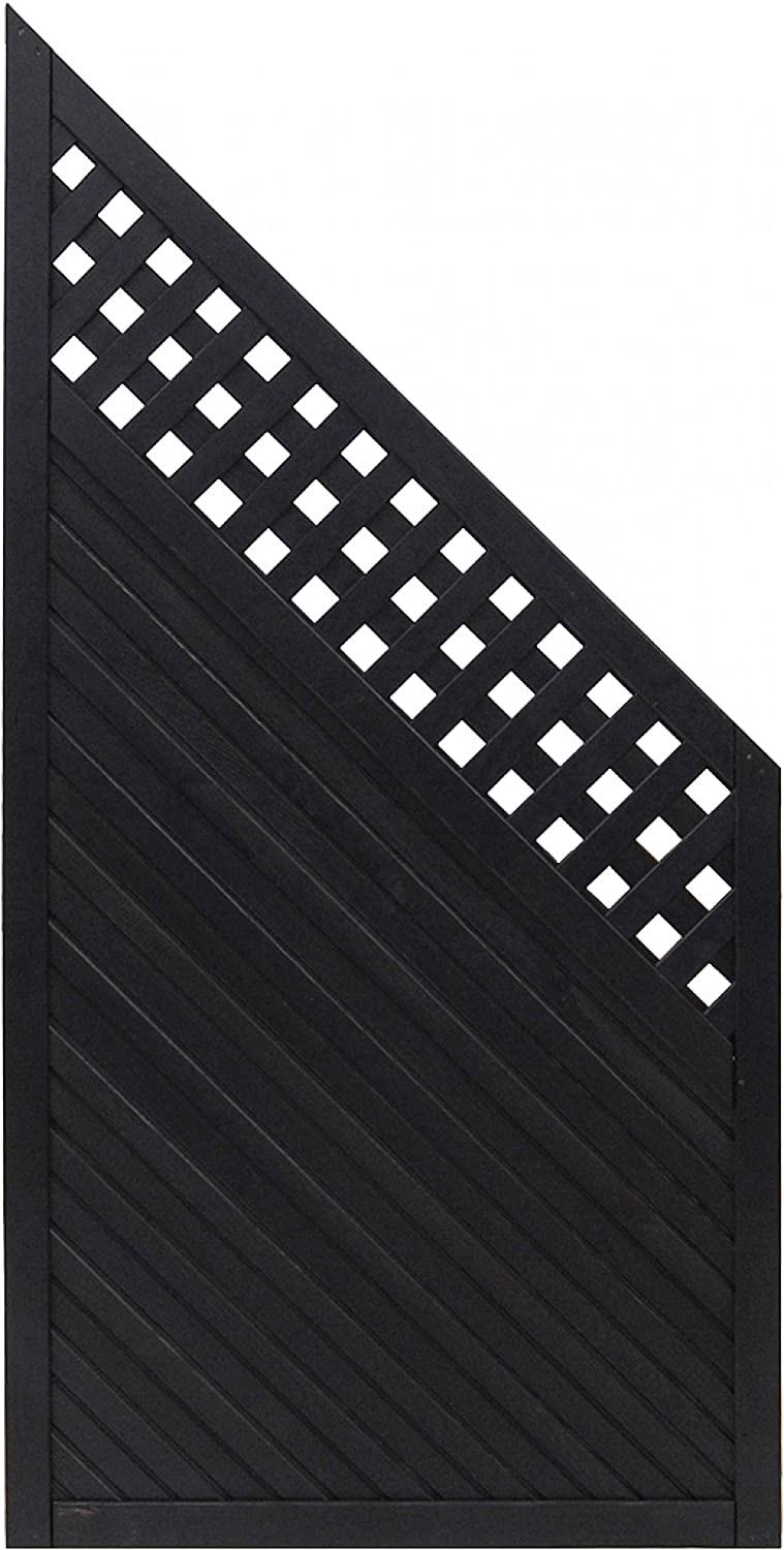 Andrewex wooden fence 90 180 x 90, varnished, anthracite, privacy, fencing panel, garden fence