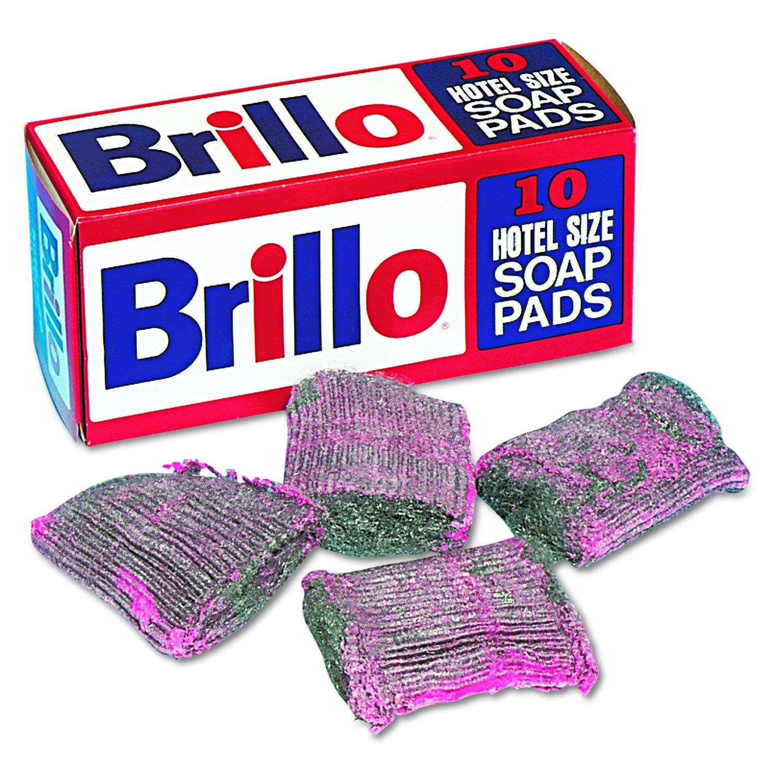 Amazon.com: Brillo w240000ct lana de acero Pad, Caja de 10 ...