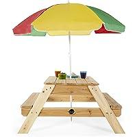 Plum Children's Picnic Table with Umbrella