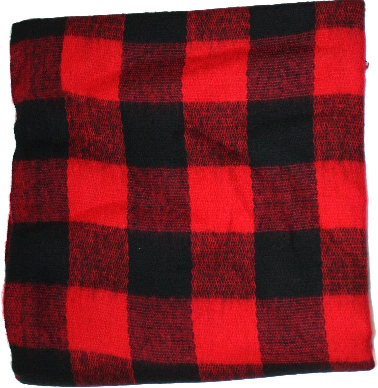 Jacks Classic Oversized Cashmere Feel Buffalo Check Wrap//Scarf Ted and Jack