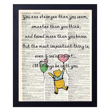 Amazon Com Akeke Classic Winnie The Pooh Vintage Book Art Prints
