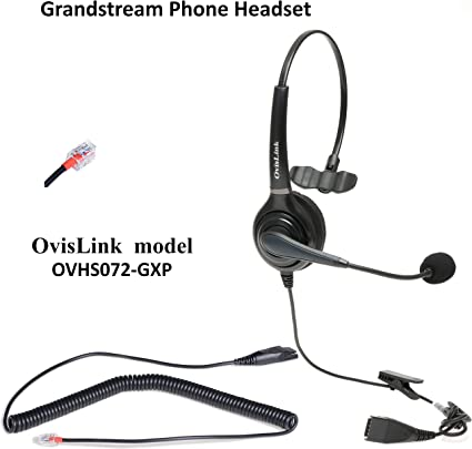 Noise Cancelling Microphone Headset Compatible with Grandstream High-End IP Phones with 2 Years Warranty RJ9 Headset Quick Disconnect Included OvisLink Dual Ear Grandstream GXP2160 Headset