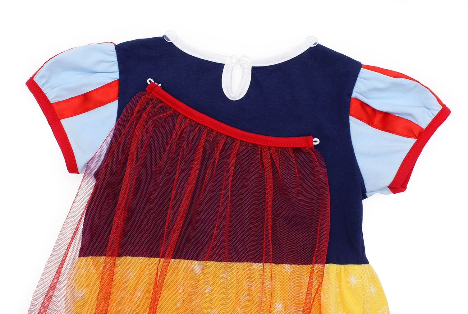 Jurebecia Princess Snow White Dress Toddler Girls Nightgowns Birthday Halloween Party Costumes with Cape Size 3T by Jurebecia (Image #6)