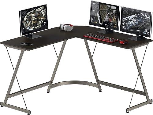 Reviewed: SHW Gaming Desk L-Shaped Desk Computer Corner Table