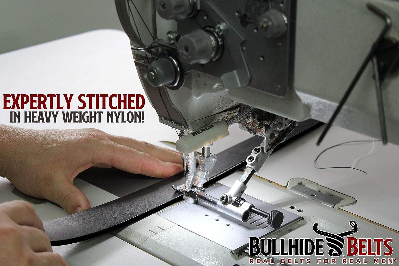 Bullhide Belts Ceinture en cuir pour homme - Figure 8 cousue - Courroies de qualité supérieure - Fabriqué aux États-Unis Trempé À Chaud.