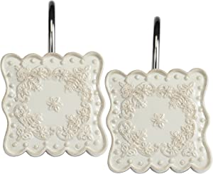Creative Bath Products Ruffles Shower Hooks, 12-Pack