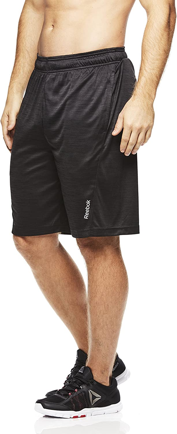 Reebok Men's Drawstring Shorts - Athletic Running & Workout Short w/ Pockets: Clothing