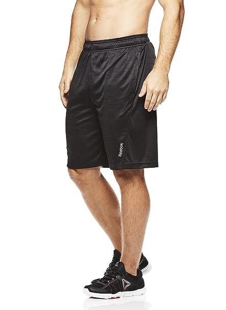 ccd665f8f24f Reebok Men s Drawstring Shorts - Athletic Running   Workout Short - Black  Shadow Cruz