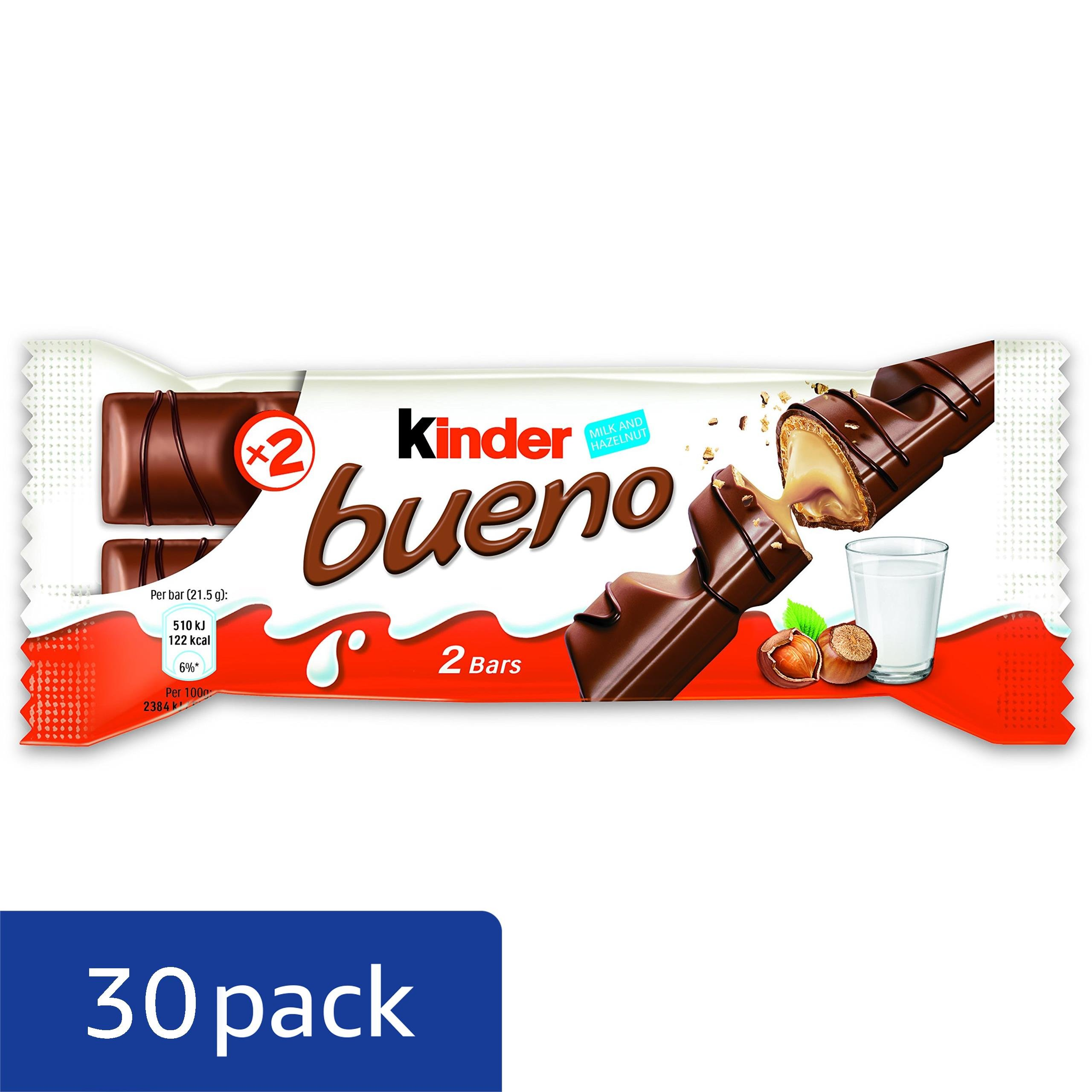 Ferrero Kinder Bueno Wafer Cookies, 1.5 Ounce (43 g) (Pack of 30) by Ferrero (Image #3)
