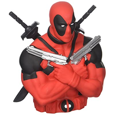 Marvel Deadpool Bust Bank: Toys & Games