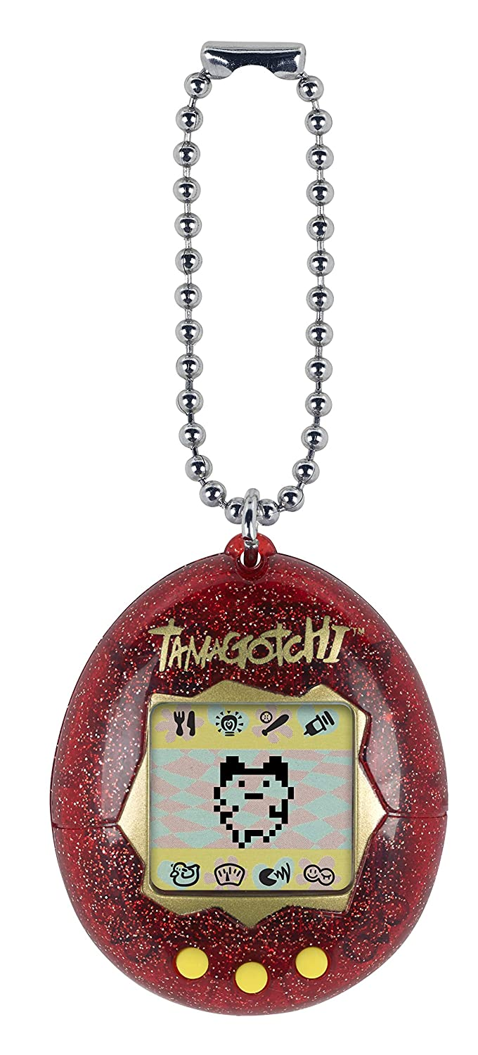 Tamagotchi Electronic Game Red Glitter