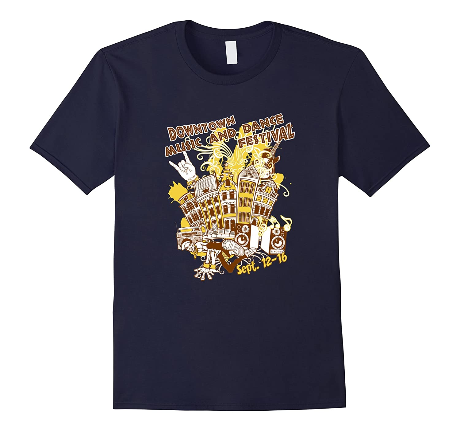 Downtown Music and Dance Festival T Shirts Graphic Tee-Art