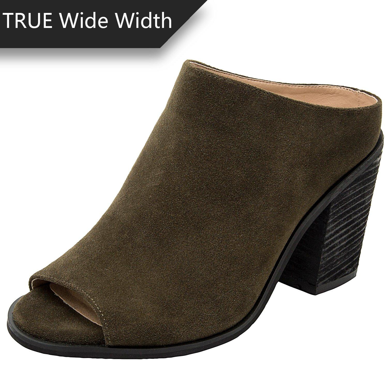 Mid Block Heel Open Toe Shoes