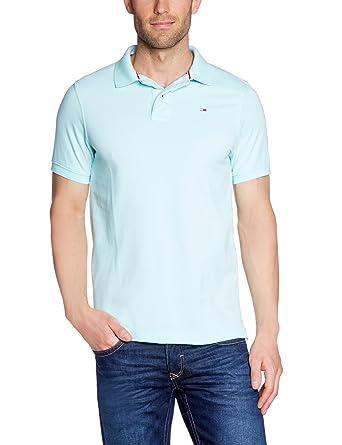 7e14283f4dfdb6 Tommy Hilfiger Mens Pilot Pique Polo Shirt Aqua X-Large  Amazon.co.uk   Clothing