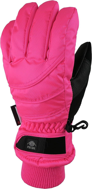 NIce Caps Kids Bulky Thinsulate Waterproof Winter Snow Ski Glove With Ridges