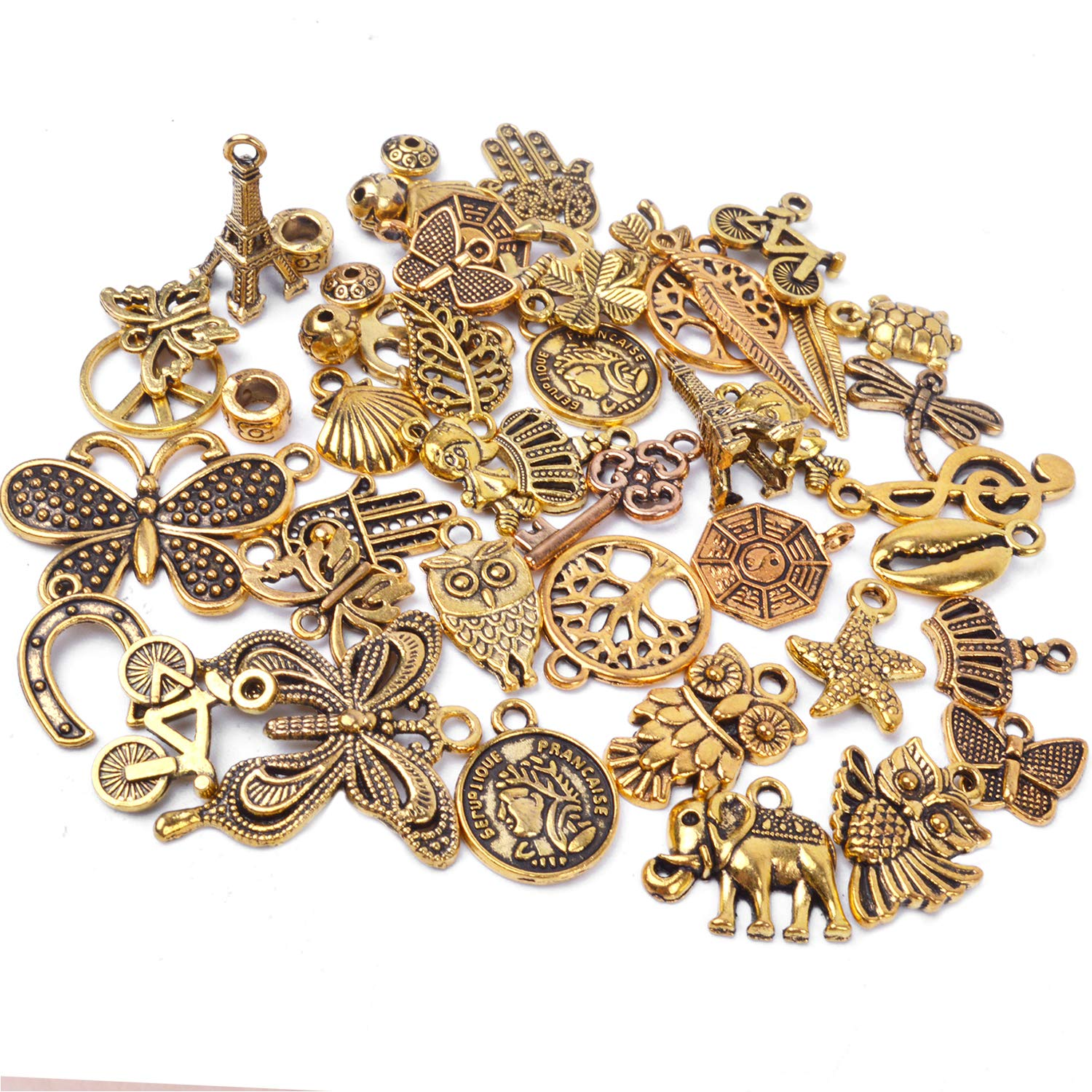 Cursive Letter Charms Pendants 26 Alphabet DIY for Jewelry Making and Crafting Accessories 17.5mm 26Pcs