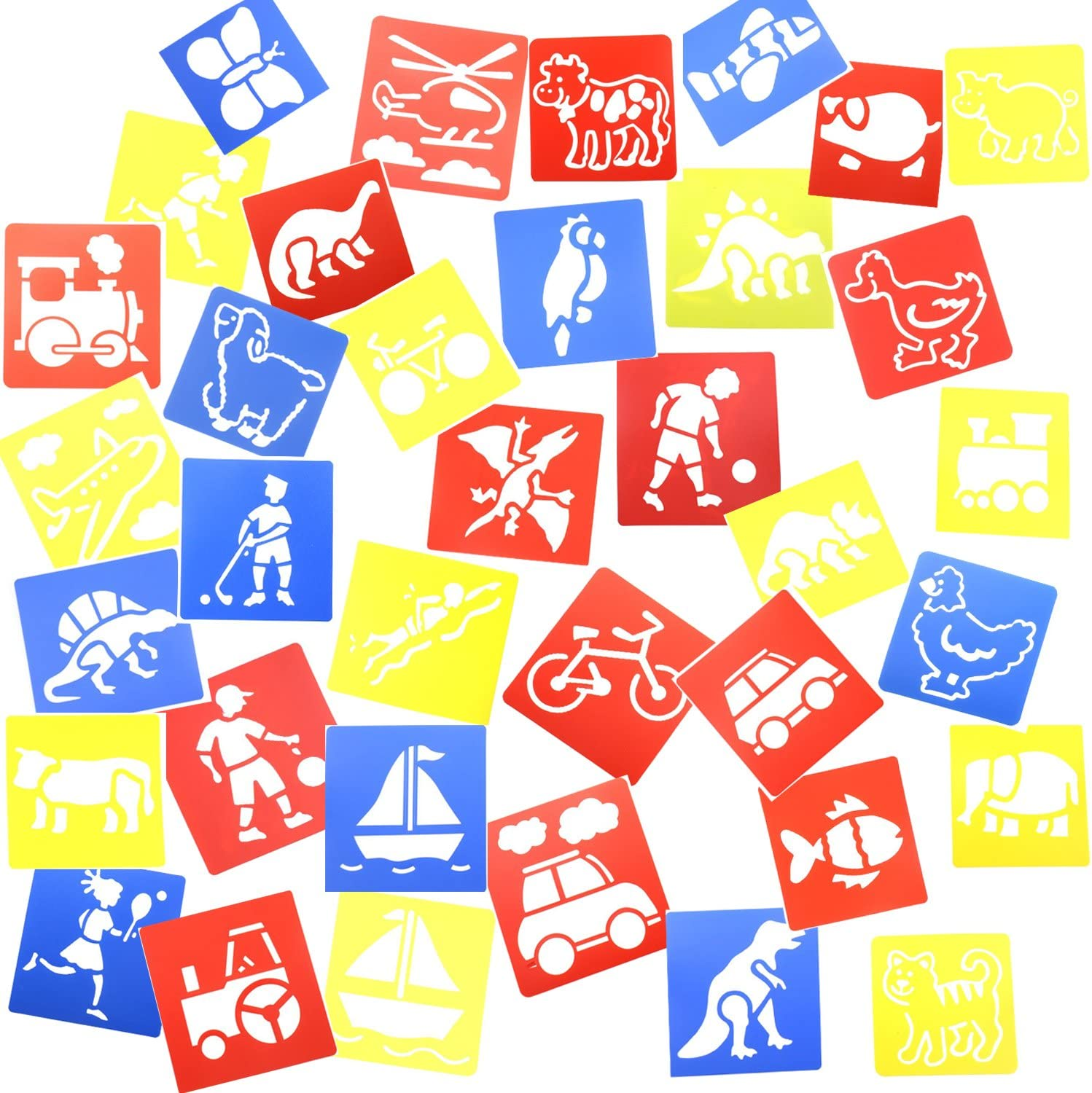 amazon com inxens plastic stencils for kids craft drawing stencils painting templates shapes set of 36 toys games inxens plastic stencils for kids craft drawing stencils painting templates shapes set of 36