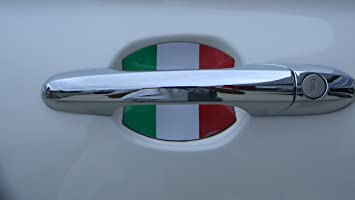 Amazon.com: Fiat 500 Italian Flag Car Auto Door Handle Trim ...