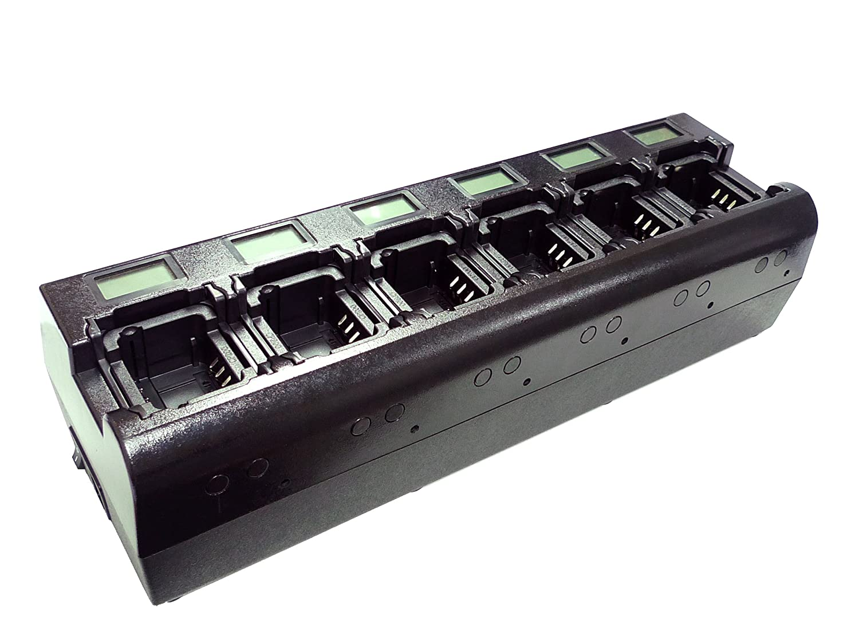 Maximal Power RC Mini600-RBPOD-MINI-M9009 Mini 6 Way Two-Way Radio Charger for Motorola Two 2 Way Radio Battery PMNN-4023 HNN-9008 PMNN-4023 PMNN-4148 PMNN-4148