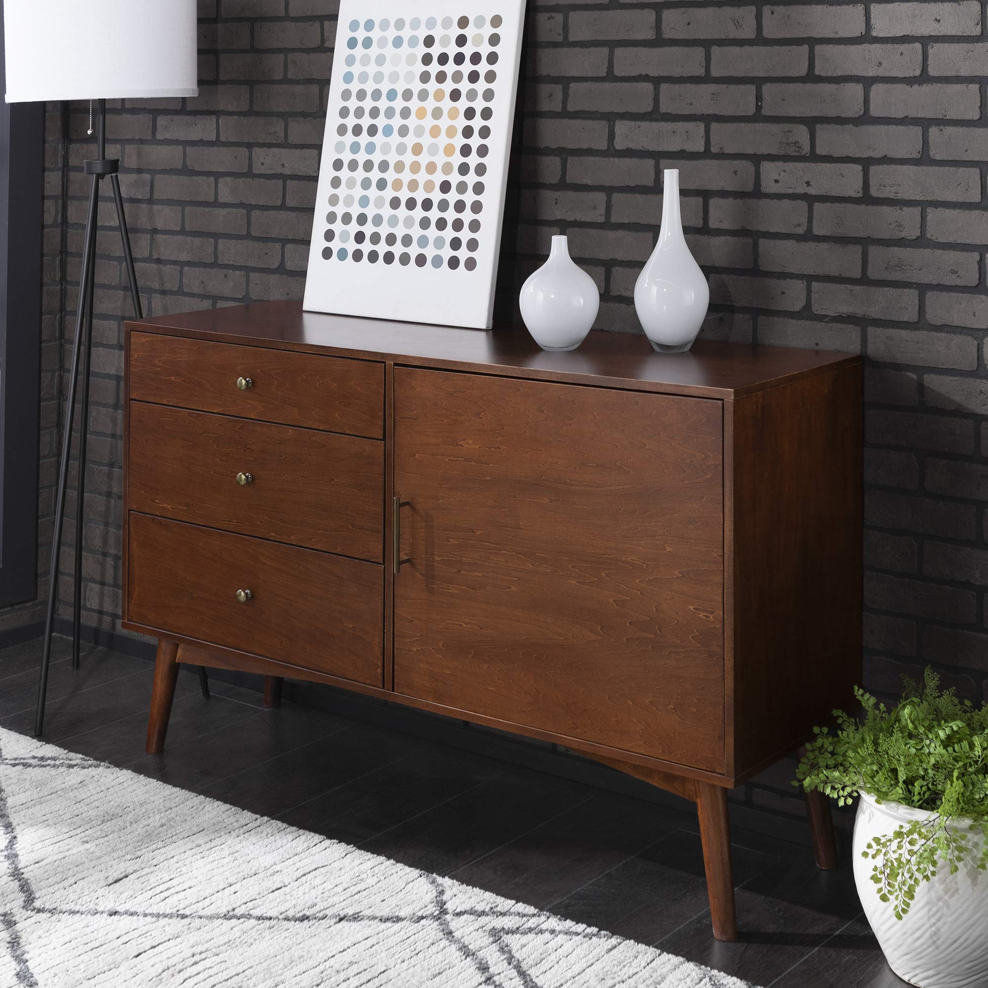 New Mid Century Modern Television Console-Walnut Finish by Home Accent Furnishings