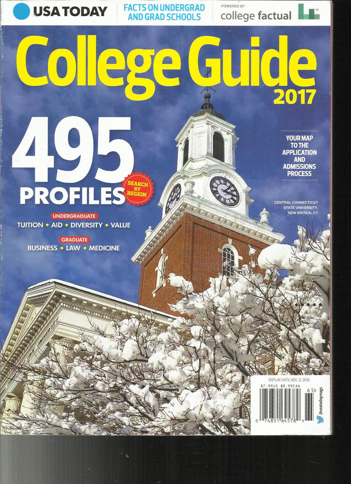 USA TODAY MAGAZINE, COLLEGE GUIDE, 2017 495 PROFILES ISSUE, 2016 by Generic (Image #1)