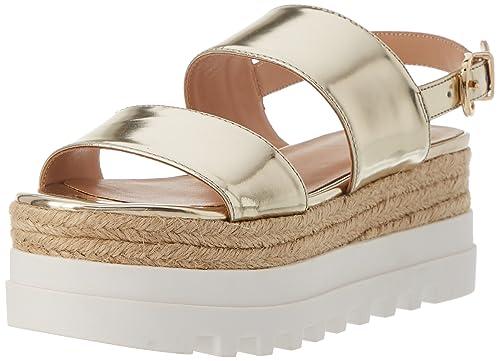 7cae1801d2a4e Liu Jo Jeans S18067P023107014.Sandalo Platform nibbio Light Gold.Platino.37