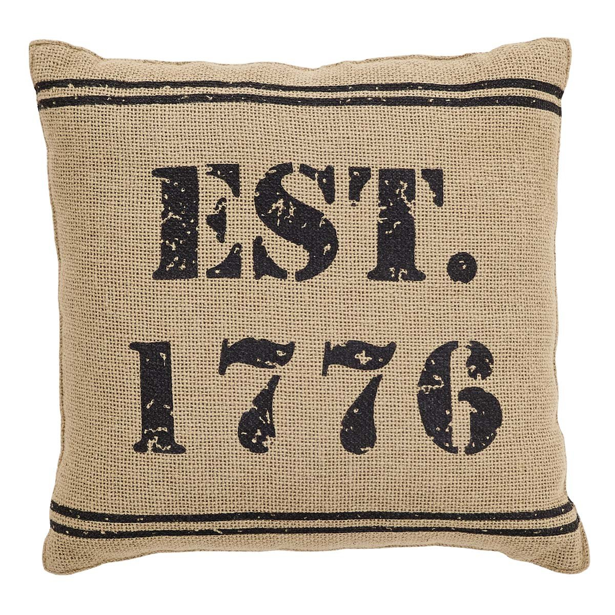 VHC Brands 25884 Independence 1776 Pillow 12x12
