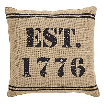 aeb341bd85ef Amazon.com  VHC Brands 25884 Independence 1776 Pillow 12x12  Home ...