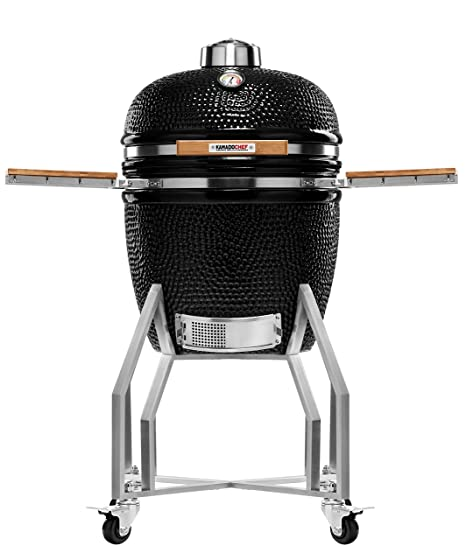Kamado Chef Barbacoa de cerámica 1900 Prestige Diamond Black ...