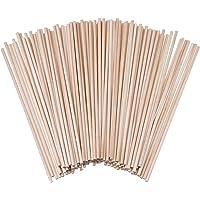 Varillas de madera natural sin terminar para manualidades