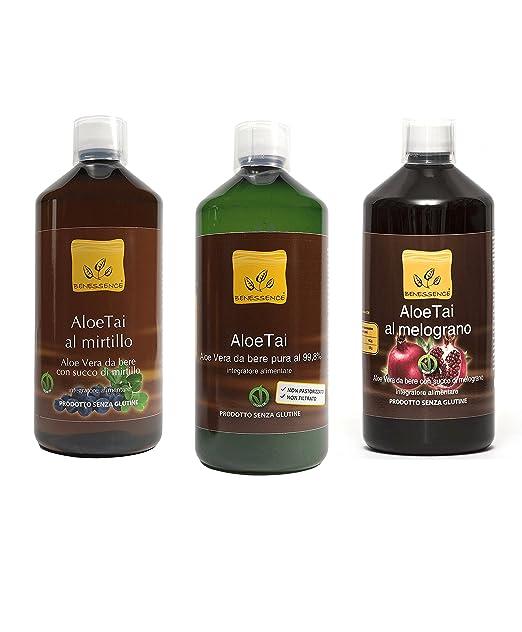15 opinioni per Offerta 3 Succo da Bere di Puro Aloe, Aloe e Mirtillo, Aloe e Melograno
