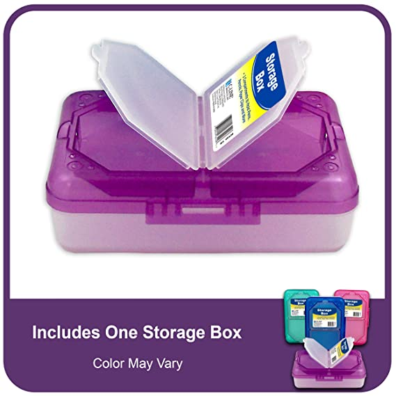Amazon.com : C Line Poly 3 Compartment Storage Box With Snap Lid, 1 Storage  Box, Color May Vary (48500) : Pencil Holders : Office Products