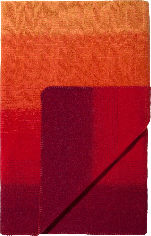 Steinbeck Wohndecke Streifen Wolle rot Größe 150x200 cm