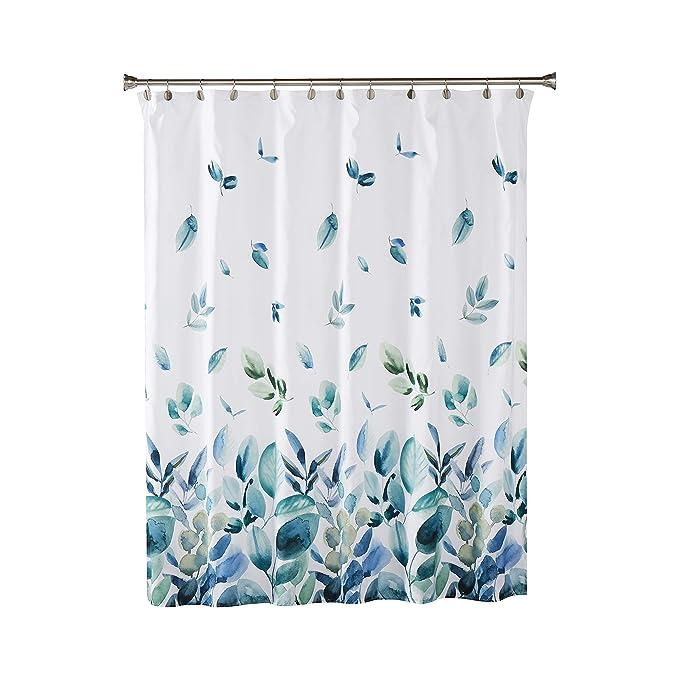 "100/% Cotton Fabric Shower Curtain Gray Sage White Moroccan Tile Design  72/""x72/"""