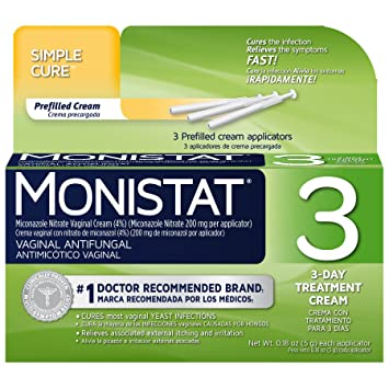 Amazon Monistat 3 Day Vaginal Antifungal Simple Therapy 3