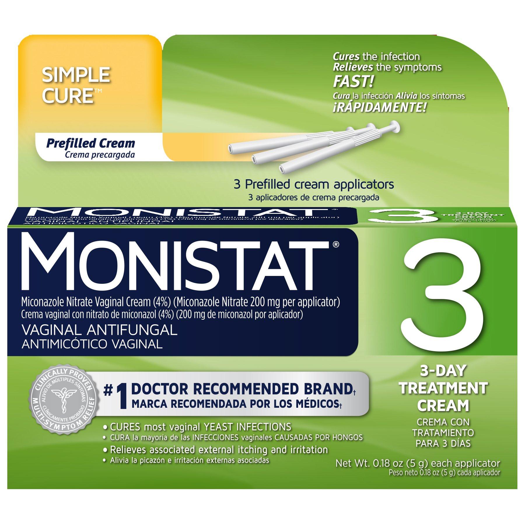 Monistat 3 Vaginal Antifungal Medication, 0.18 Ounce