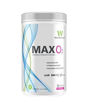 Next Wave Labs Max O2 30 Servings, Stimulant-Free Energy, Endurance, Recovery, Hydration Electrolytes, Vegan BCAAs, Glutamine, Cherry Pure 30 Servings