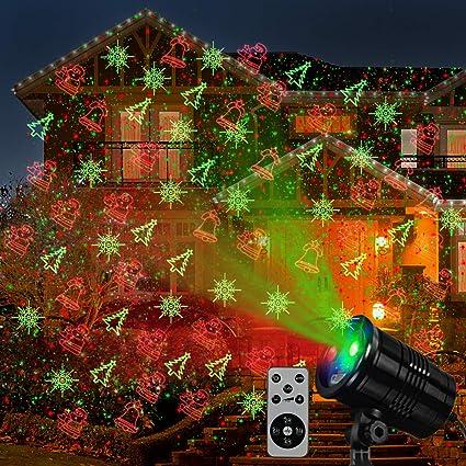 LED Laser Projector Christmas Light Landscape Laser Snowflake Santa Waterproof