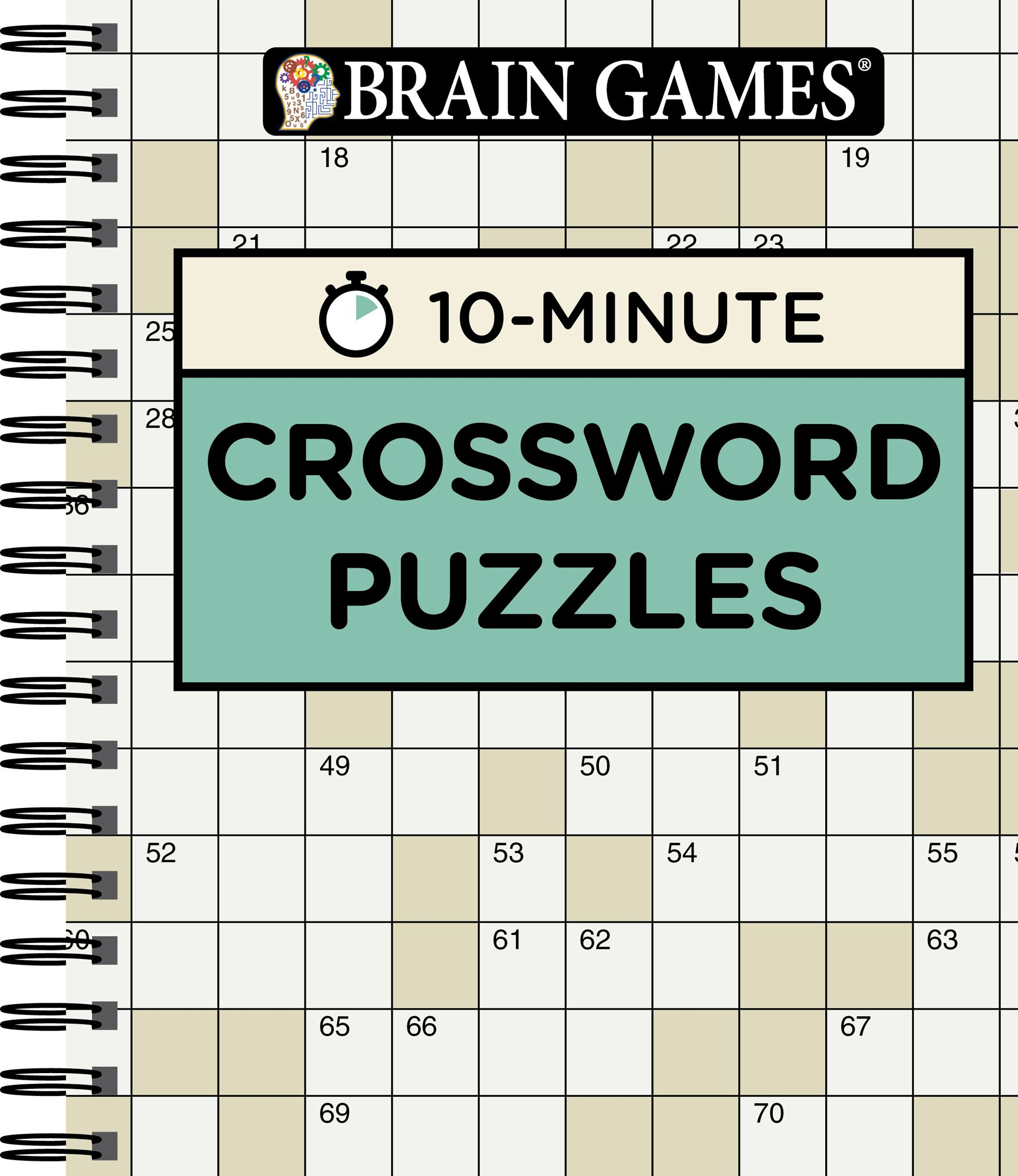 Brain Games® 10 Minute Crossword Puzzles: Editors of Publications ...